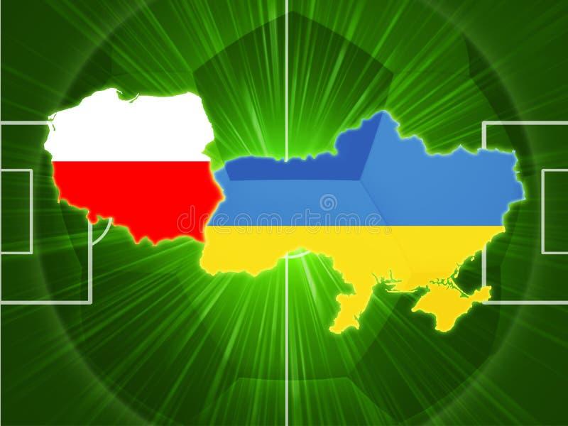 futbolowy Poland Ukraine royalty ilustracja