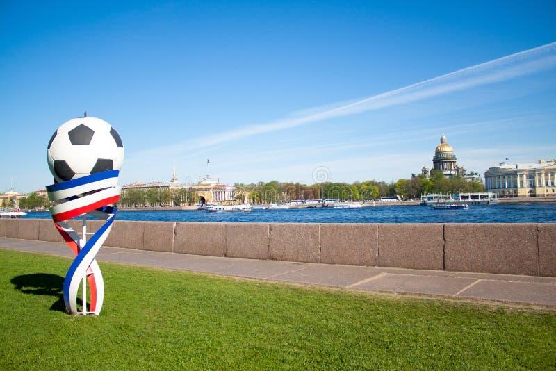 Futbolowy postać symbol FIFA puchar świata 2018 fotografia royalty free