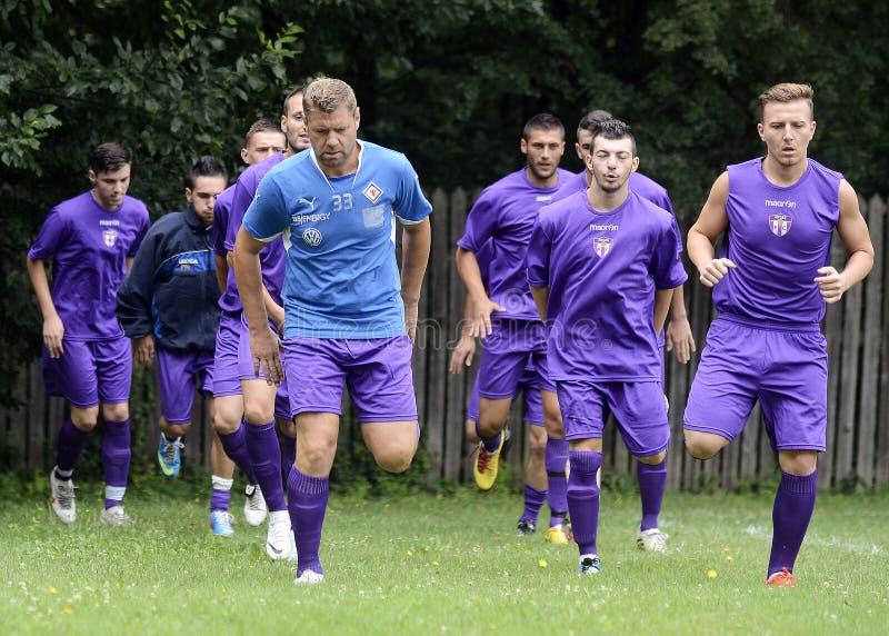 Futbolowy szkolenie zdjęcia stock