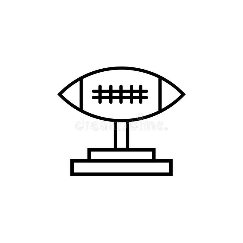 Futbolowy trofeum ikony wektoru znak i symbol odizolowywający na białym tle, Futbolowy trofeum logo pojęcie ilustracja wektor