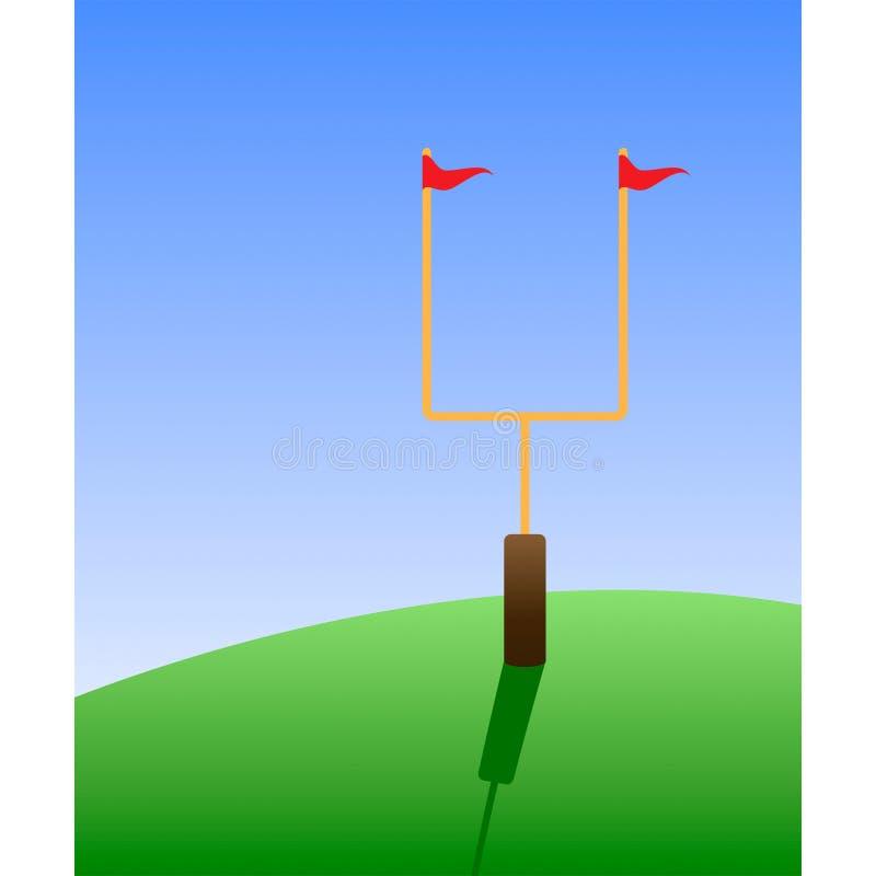 Futbolu amerykańskiego cel wysyła wektor ilustracji