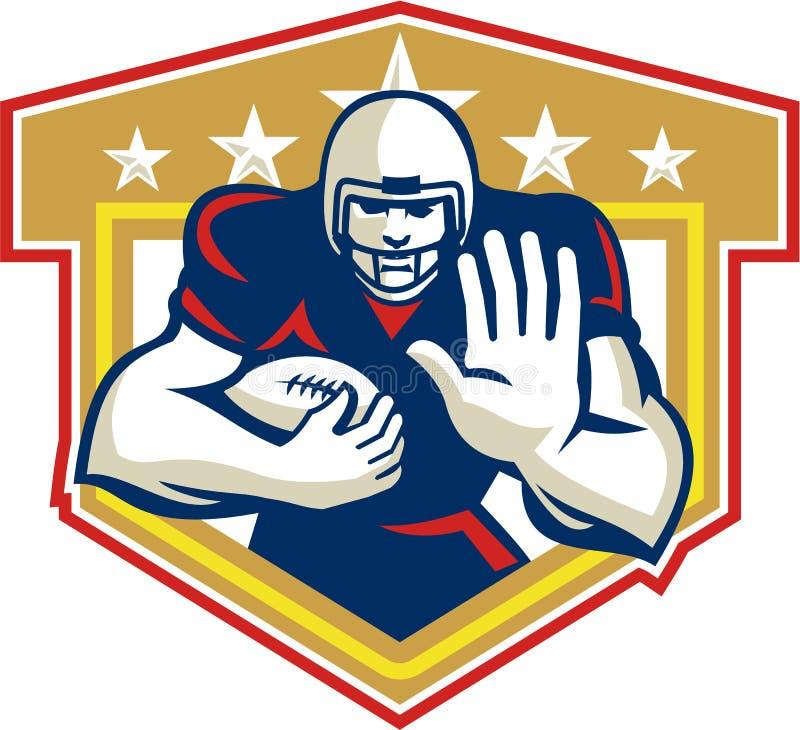 Futbolu Amerykańskiego bieg Tylna Radzi sobie osłona ilustracja wektor