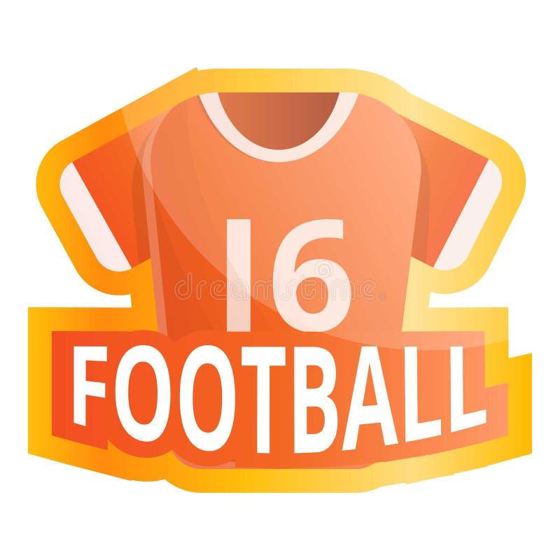 Futbolu amerykańskiego dżersejowy logo, kreskówka styl ilustracja wektor