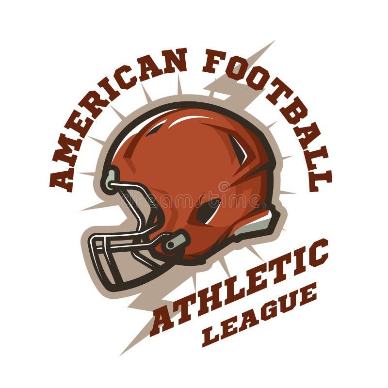Futbolu amerykańskiego hełma emblemat ilustracji