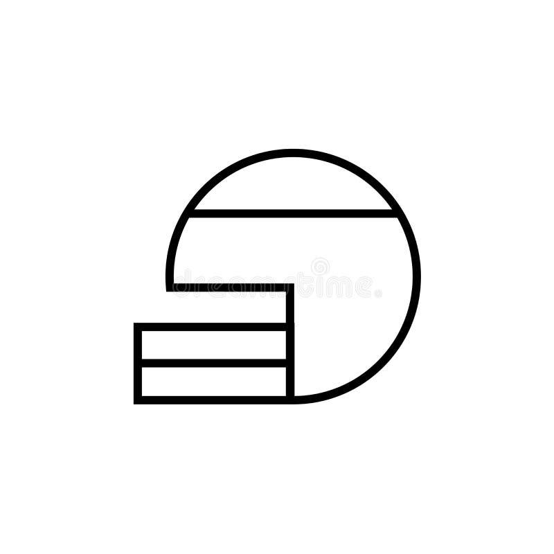 Futbolu Amerykańskiego hełma ikony wektoru znak i symbol odizolowywający na białym tle, futbolu amerykańskiego hełma logo pojęcie royalty ilustracja