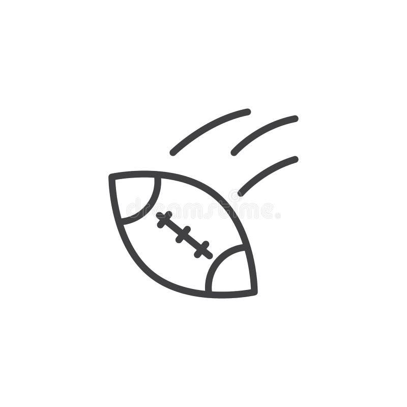 Futbolu amerykańskiego konturu balowa ikona ilustracja wektor