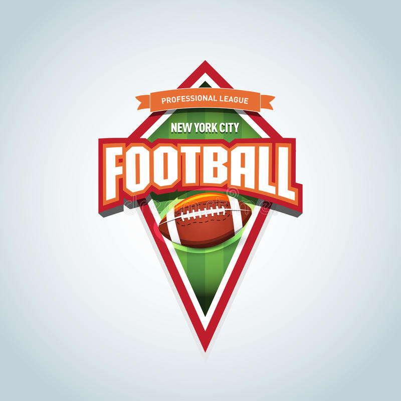 Futbolu amerykańskiego loga szablon Futbolu amerykańskiego emblemat, logotypu szablon, koszulki odzieży projekt jaja amerykańskie ilustracji