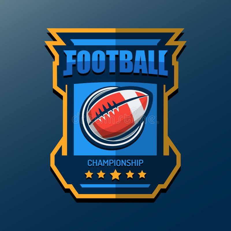 Futbolu amerykańskiego loga szablon Wektorowi szkoła wyższa logowie Illustrati royalty ilustracja