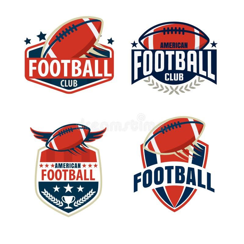 Futbolu amerykańskiego loga szablonu kolekcja ilustracji