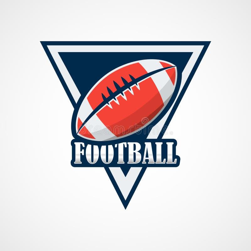 Futbolu Amerykańskiego loga szablonu Wektorowy projekt ilustracji