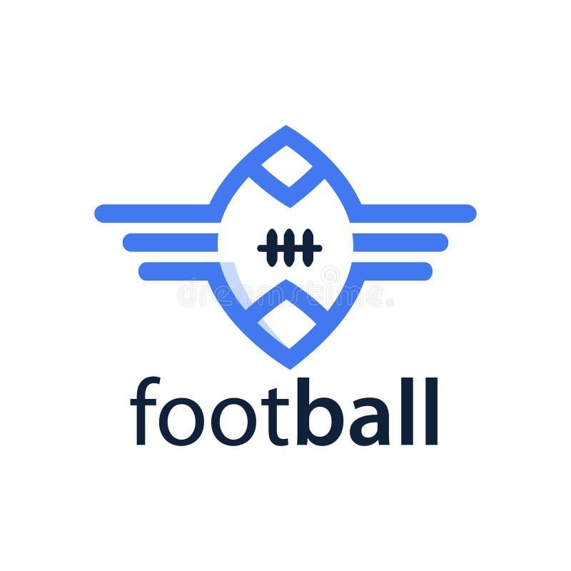 Futbolu amerykańskiego logo zapas, płaski projekt t?a ilustracyjny rekinu wektoru biel ilustracji