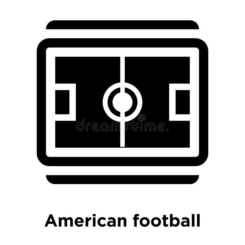 Futbolu amerykańskiego odgórnego widoku ikony śródpolny wektor odizolowywający na białym b ilustracja wektor