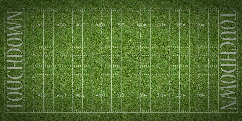 Futbolu Amerykańskiego pole ilustracja wektor