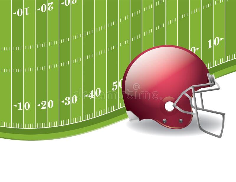 Futbolu Amerykańskiego pole i hełma tło royalty ilustracja