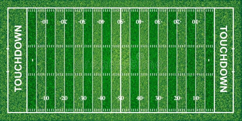Futbolu amerykańskiego pole, tekstura, wektorowa ilustracja ilustracji
