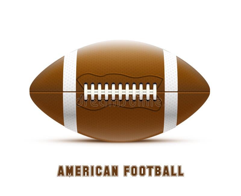 Futbolu amerykańskiego realistyczny temat eps 10 ilustracji