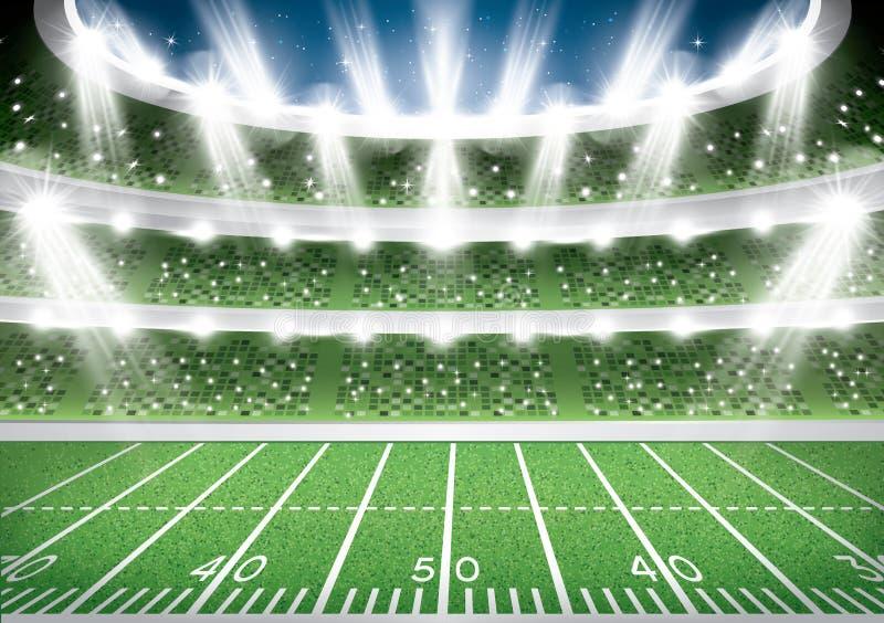 Futbolu Amerykańskiego stadium arena royalty ilustracja