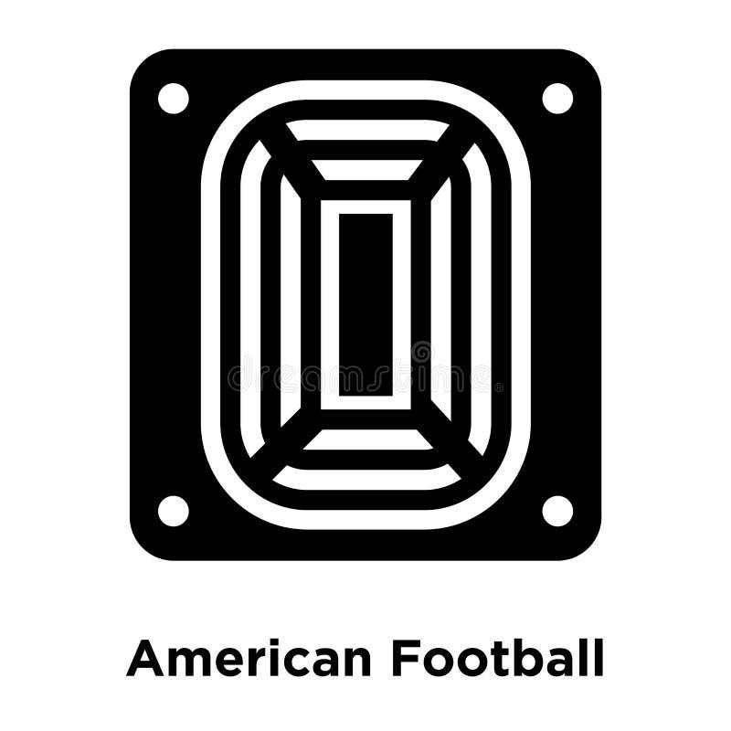 Futbolu Amerykańskiego stadium ikony wektor odizolowywający na białym backgrou ilustracja wektor