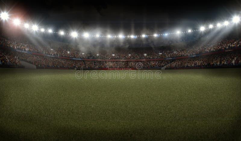 Futbolu amerykańskiego stadium piłkarski 3D rendering royalty ilustracja