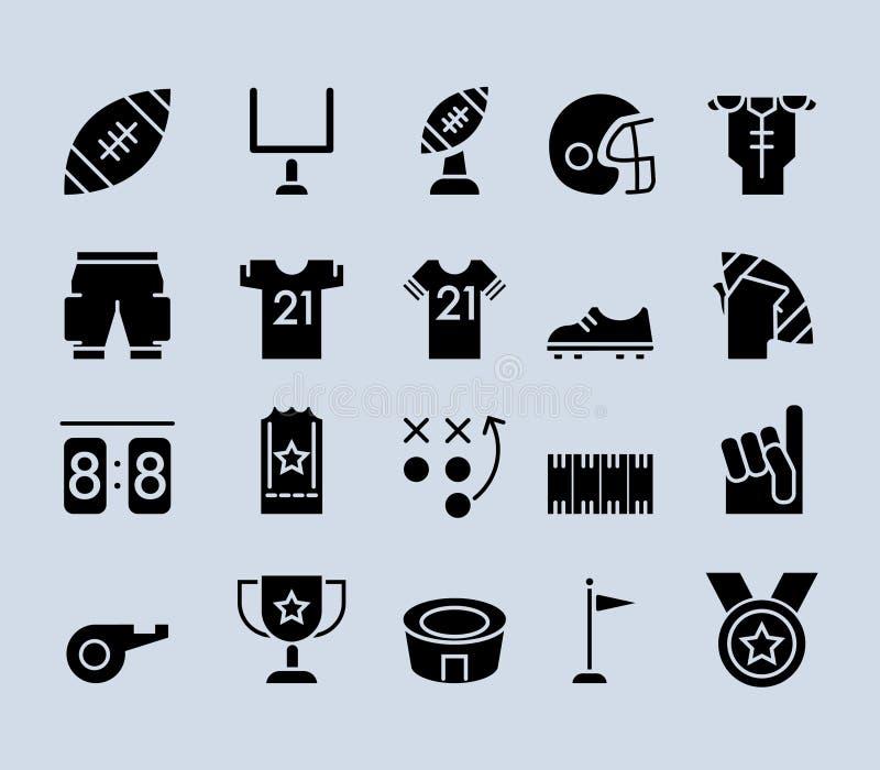 Futbolu Amerykańskiego tematu piktograma ikona ilustracji