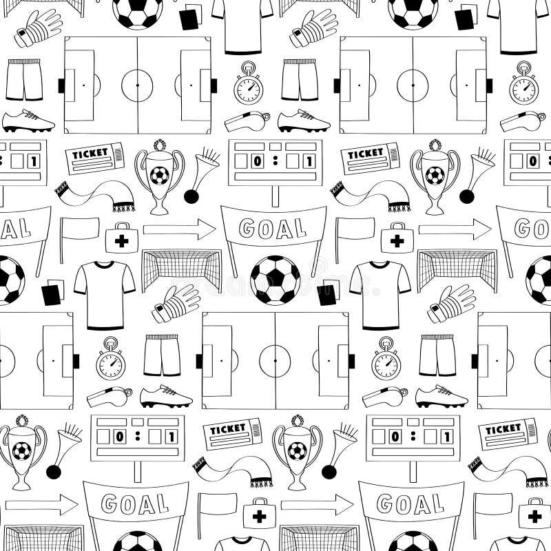 futbolu bezszwowy deseniowy royalty ilustracja