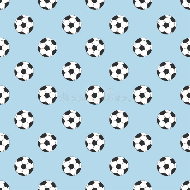 Futbolu bezszwowy wzór ilustracja wektor