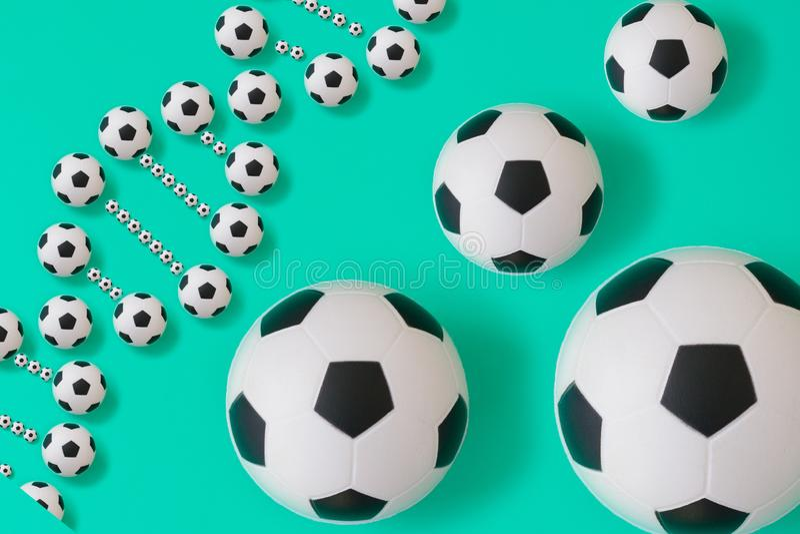 Futbolu dna na b??kitnym tle ilustracja wektor
