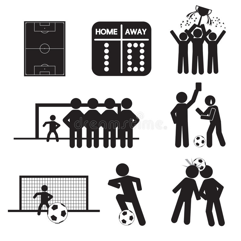 Futbolu lub piłki nożnej ikony ilustracja wektor