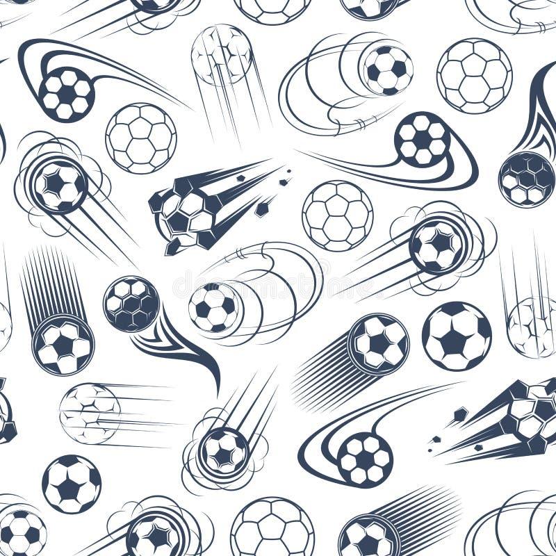 Futbolu lub piłki nożnej piłek bezszwowy wzór royalty ilustracja