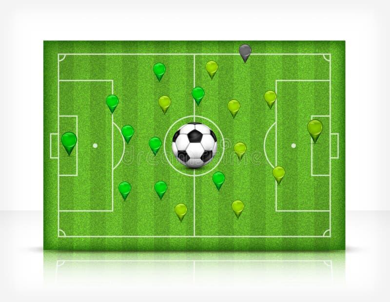 Futbolu (piłka nożna) pole z piłką ilustracja wektor