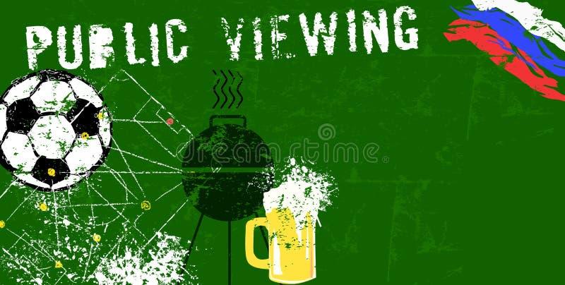 Futbolu, piłki nożnej viewing grunge jawna ilustracja/, internatio ilustracja wektor