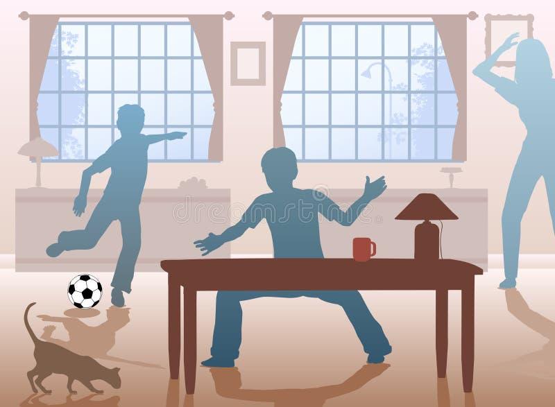 futbolu stół royalty ilustracja