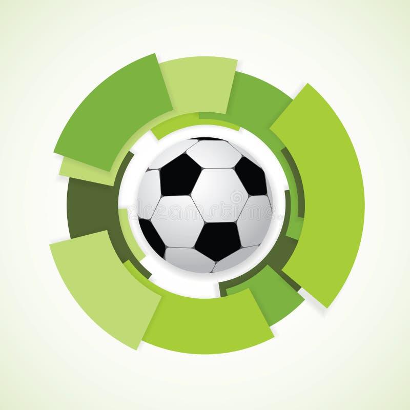 Futbolu znak. Piłki nożnej piłka. royalty ilustracja