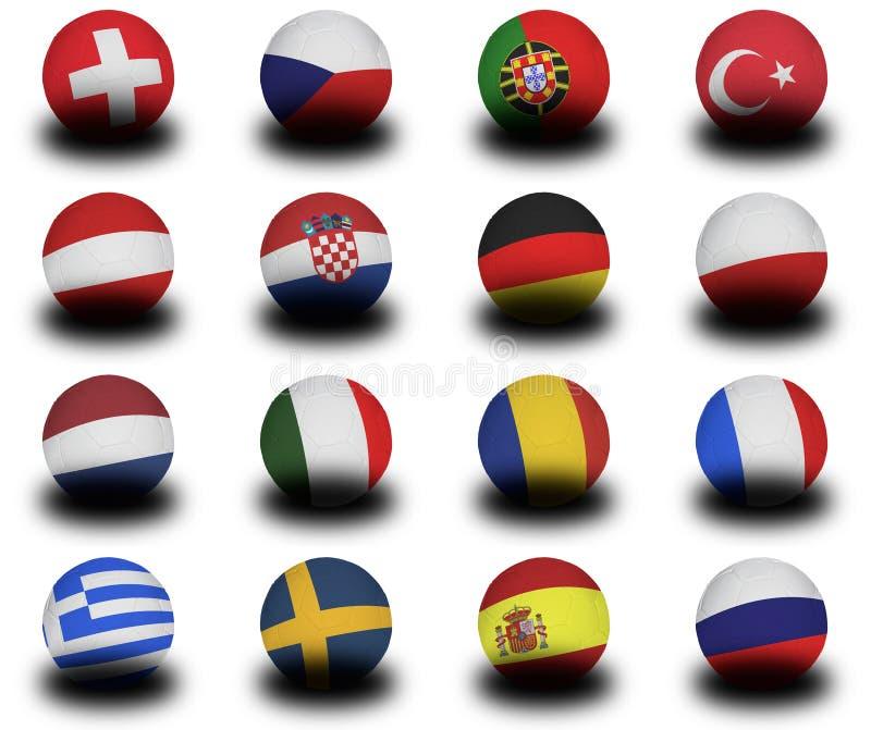 Futebóis europeus 2008 ilustração do vetor