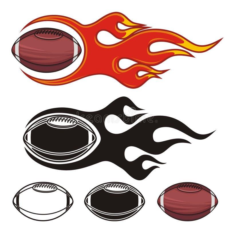 Futebóis flamejantes ilustração stock