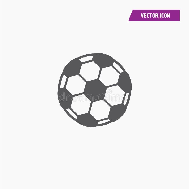 Futebol, ícone da bola de futebol no estilo liso na moda ilustração do vetor