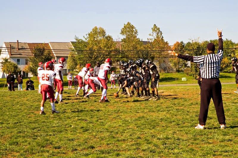 Futebol -4 da liga da juventude fotografia de stock
