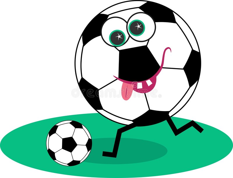 Futebol ilustração stock