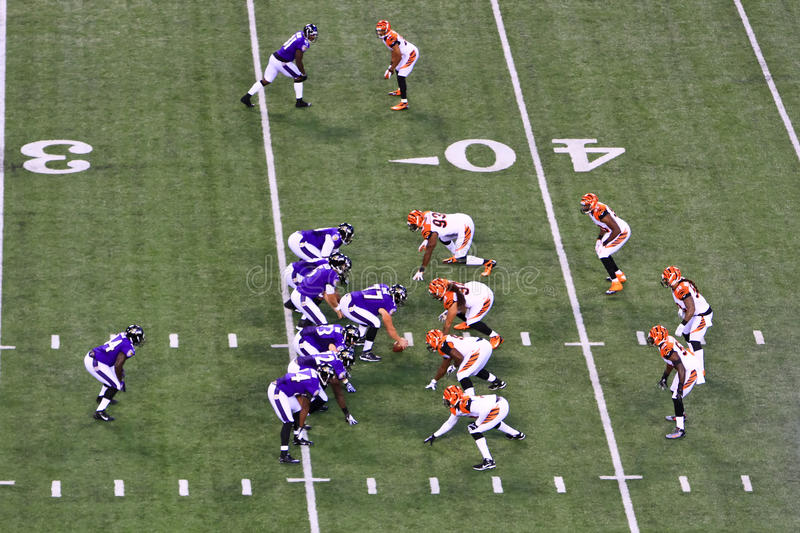Futebol 7 do NFL na caixa, 1 parte traseira do corredor imagem de stock royalty free