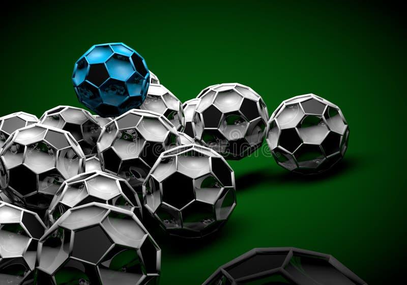 futebol abstrato 3d do footballl ilustração do vetor