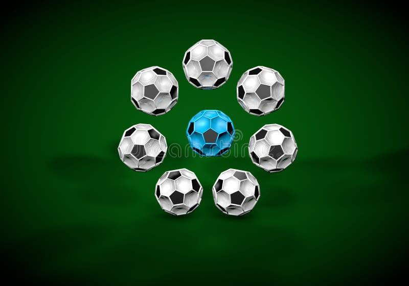 futebol abstrato 3d do footballl ilustração royalty free