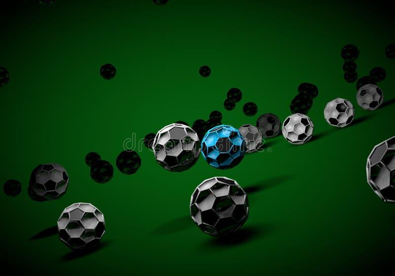 futebol abstrato 3d do footballl ilustração stock