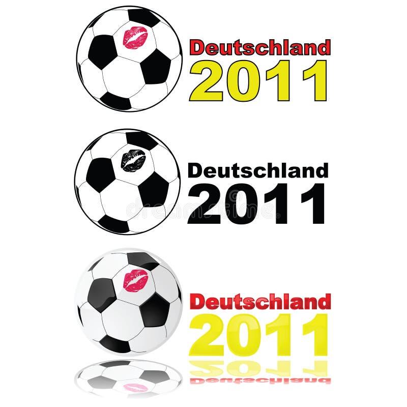 Futebol Alemanha 2011 das mulheres ilustração royalty free