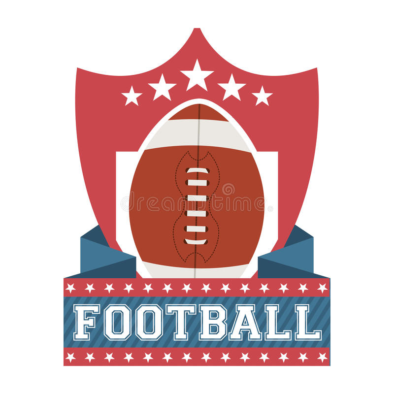 Futebol americano ilustração stock