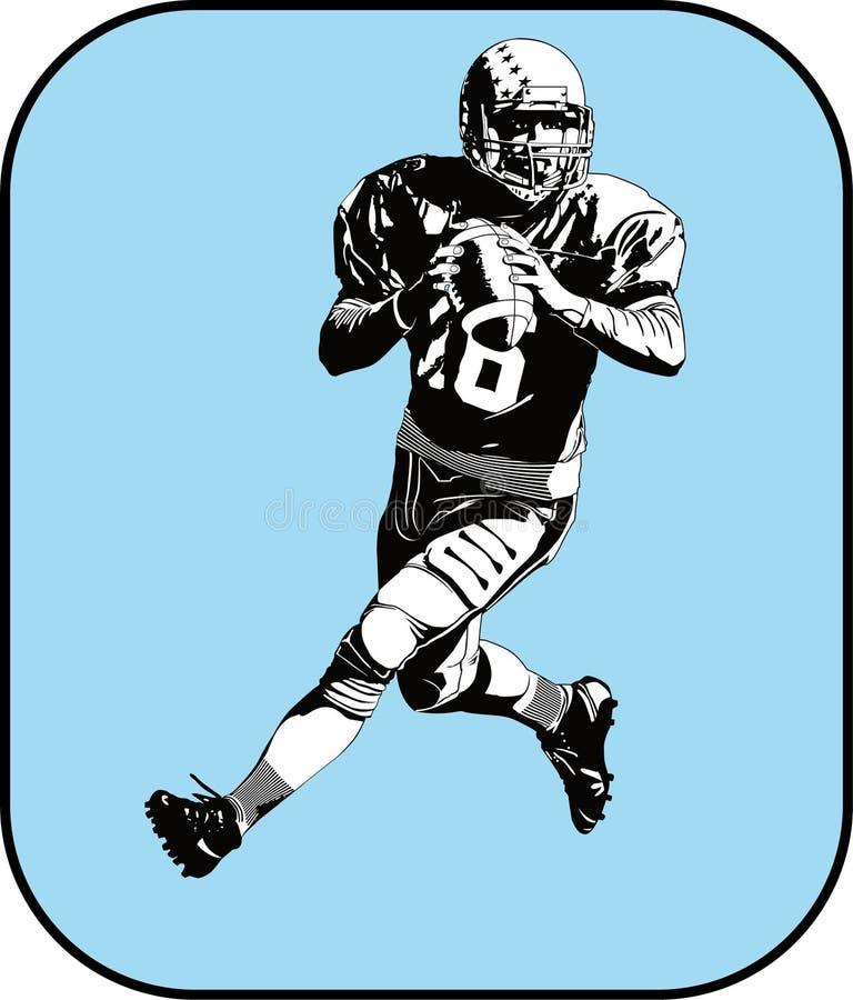 Futebol americano ilustração do vetor