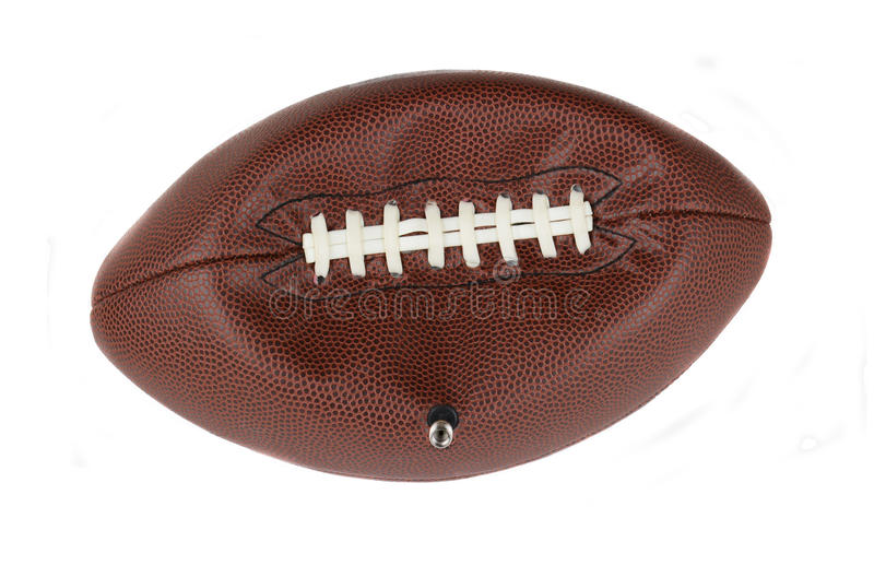 Futebol americano desinflado foto de stock royalty free