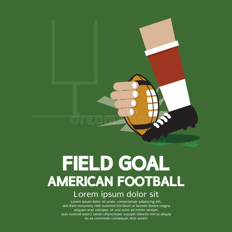 Futebol americano do gol de campo ilustração royalty free