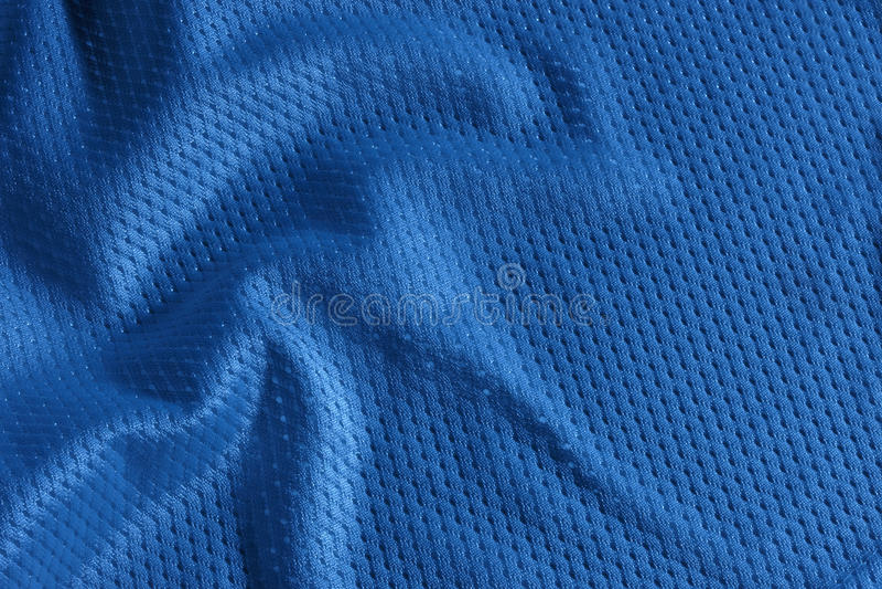 Futebol azul Jersey fotografia de stock royalty free
