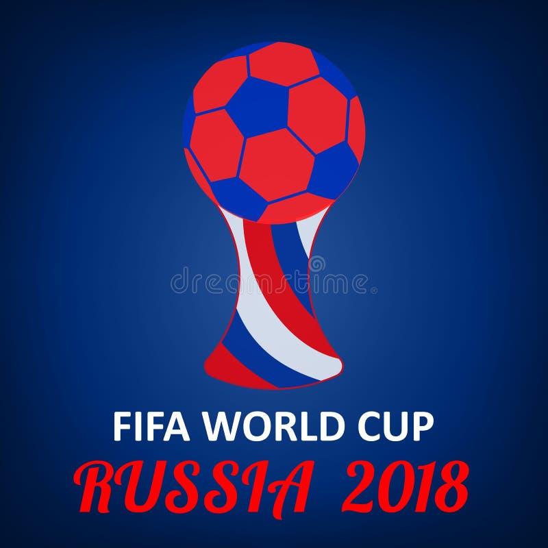 Futebol, bola de futebol, copo, Moscou, Rússia, fundo do projeto do cartaz ilustração stock