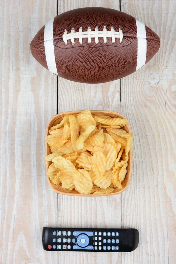 Futebol Chips Remote imagem de stock royalty free